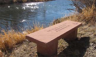 customized stone memorial benches