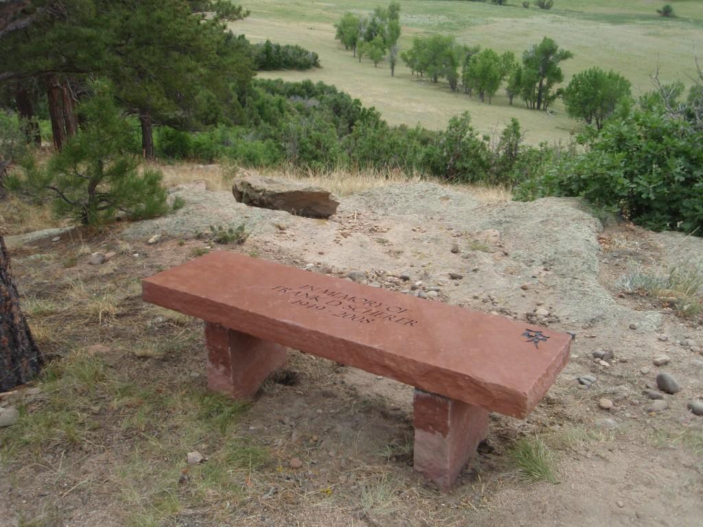 Park Memorial Bench Large Bergen Designs