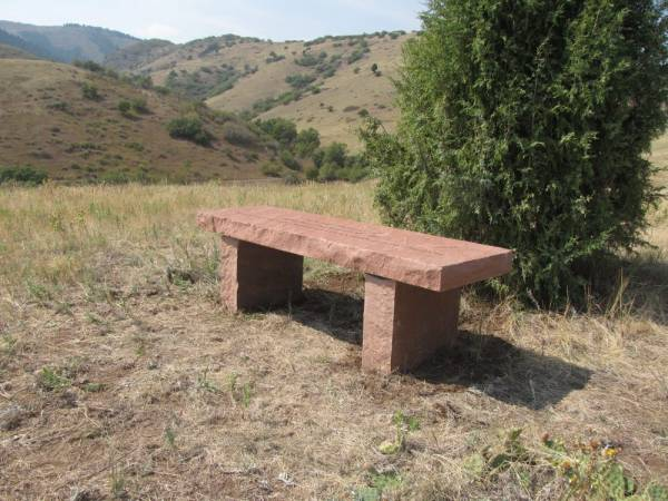 Large Natural Stone Park Bench