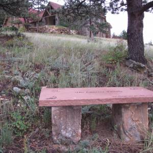 Church Memorial Bench - Natural Stone