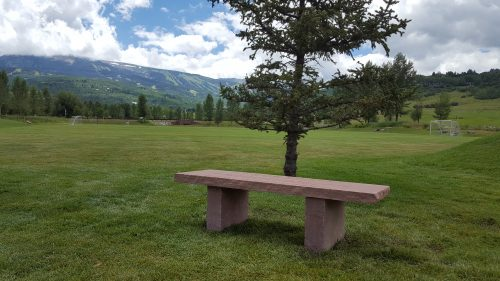 Custom Stone Park Bench - Snow Mass CO