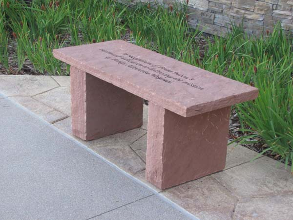 Custom Memorial Bench - School installation