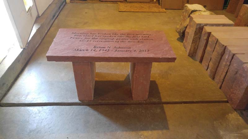 Completed Memorial Bench