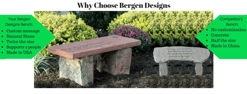 Why choose Bergen Designs custom memorial benches