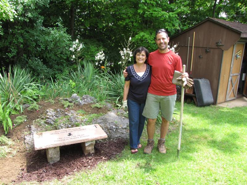 Custom Stone Memorial Bench - Home Garden