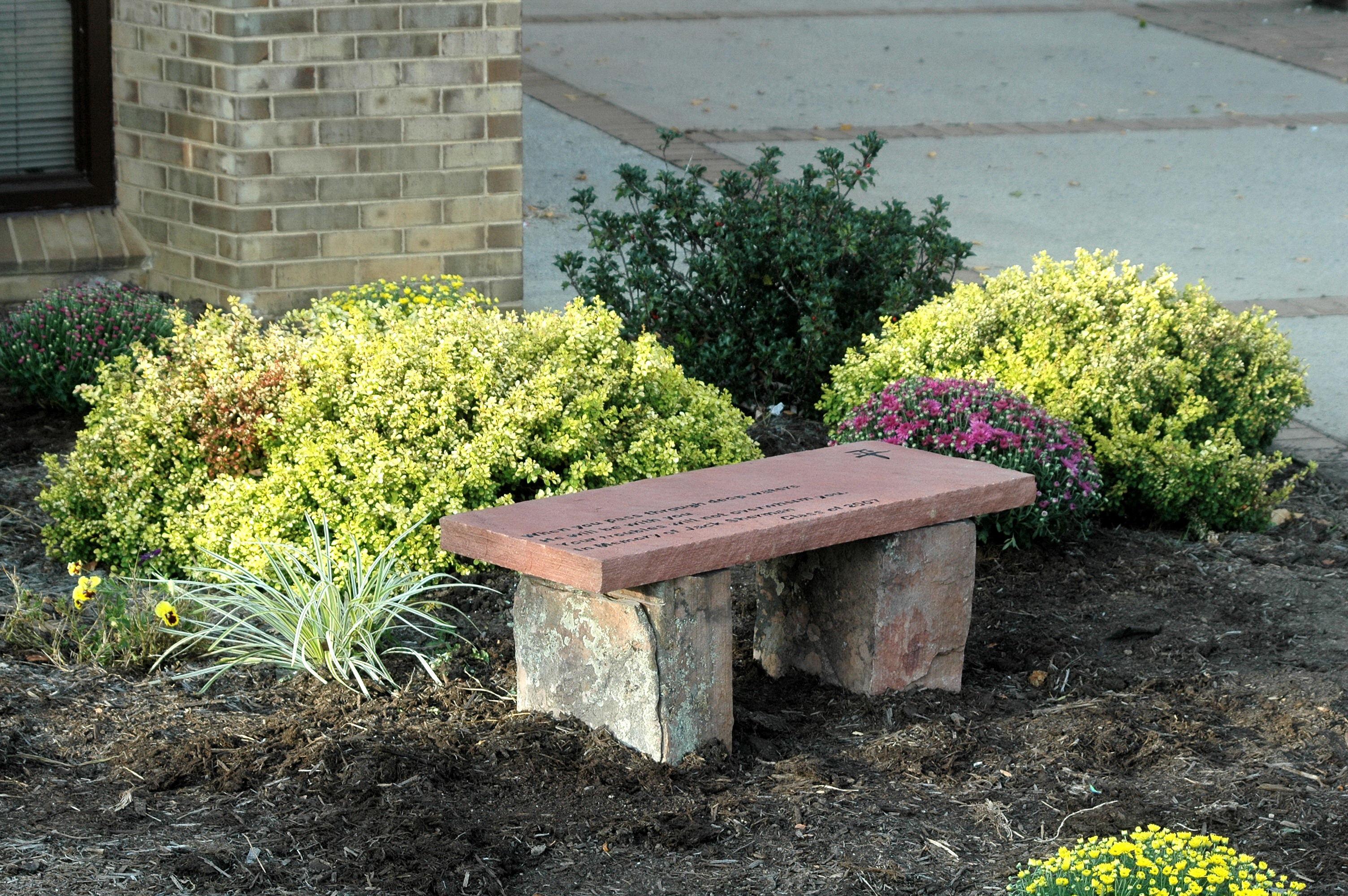 Custom Stone Memorial Bench - Jack